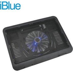IBLUE 788-BK Cooler pad Base graduable compatible para laptop de 14 pulgadas un ventilador