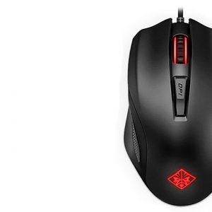 HP OMEN 7CH74700YH5 OMEN 600 Mouse gamer 12.000 dpi color negro con rojo USB port