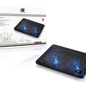 CONCEPTRONIC. CNBCOOLPADF 2-FAN Notebook Cooling pad Compatible con laptop 17 pulgada entrada USB dos ventiladores