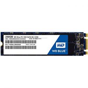 WD WDS250G2B0B Solid State Drive 250 GB blue Disco duro solido de 250 GB SSD M.2