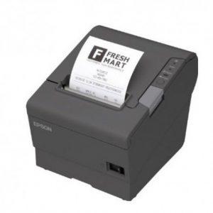 EPSON Impresora termica Epson TM-T88VC31CA85084velocidad de impresion 300 mm/seg, color negro. Estandares UL / CSA / EN / TÜV / GOST-R, interfaz USB 2.0 tipo B, RS-232. MARCA EPSONMODELO TM-T88VTECNOLOGIA DE IMPRESION TérmicaVELOCIDAD DE IMPRESION 300 mm/segCONECTIVIDAD RS-232: 1USB TIPO B: 1AC: 1BUFFER 4 KB o 45 bytesCONTENIDO IMPRESORAMANUALCDCABLE DE PODERRollo de papelCARACTERISTICAS FISICAS DIMENSIONES (CM) 14.50 x 19.50 x 14.80 cmPESO (KG) 1.6 kg