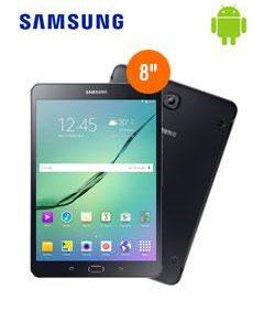 Galaxy Tab S2 8'' Bandas LTE/ 3G/2G Conectividad Wireless 802.11 a/b/g/n/ac, Bluetooth, procesador Octa-Core 1.8 GHz, memoria RAM 3GB LPDDR3, almacenamiento interno 32 GB, ranura micro-SD (soporta hasta 128 GB), conector micro-USB 2.0, conector 3.5mm, cámara posterior 8 MP, cámara frontal 2.1 MP, reproduce audio y video.