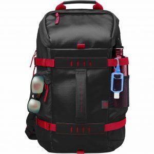 HP X0R83AA#ABL HP Odyssey Backpack Mochila HP de 15.6 pulgadas resistente al clima color negro con rojo