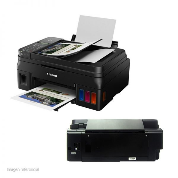 "CANON Multifuncional de tinta Canon Pixma G4111 2316C020AB IMPRESION, ESCANER, COPIA, FAX, WIFI                                                             Imprime 8.8/5.0 ipm (negro/color) a 4800x1200 dpi, escaneo a 600x1200 dpi, copias hasta A4, fax hasta 33.6Kbps, bandeja de 100 hojas.                                                    RESOLUCION DE IMPRESIÓN: MAXIMA EN COLOR 4800 x 1200DPI          MAXIMA EN NEGRO 600 x 600 DPI    VELOCIDAD DE IMPRESION: MAXIMA EN NEGRO: 8.8 IPM  MAXIMA EN COLOR 5 IPM       TAMAÑO DE HOJAS: 10X15CM (4"" X 6""), 13X18CM (5"" X 7"") , A4, A5, B5, CARTA, OFICIO. COMUNICACION O INTERFAS: USB, WIFI WIRELESS.    MEMORIA FAX: CAPACIDAD 50 PAGINAS, S/799.00"
