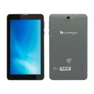 LANDTAB LT2448 7'' Procesador Quad-Core, video integrado Malí-400 MP, WiFi, Bluetooth, cámara frontal 1.3 MP, cámara posterior 2 MP.