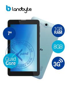 "ADVANCE Athenas Th5549 7"" Conectividad 3G/ 2 CHIP WiFi / Bluetooth, procesador Intel Atom Sofia 3GR 1.16 GHz Quad-Core, ranura microSD (hasta 32GB), cámara frontal 1.3 MP, cámara posterior 2.0 MP con Flash, Radio FM."